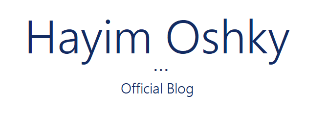 Hayim Oshky – Official Blog